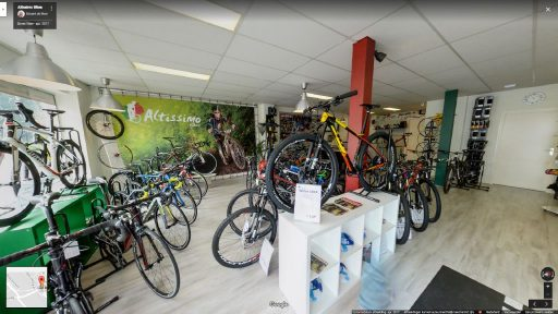 Virtuele tour van Altissimo Bikes op Google Streetview