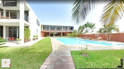 Virtuele tour van Leo's Beach Hotel & Restaurant op Google Streetview