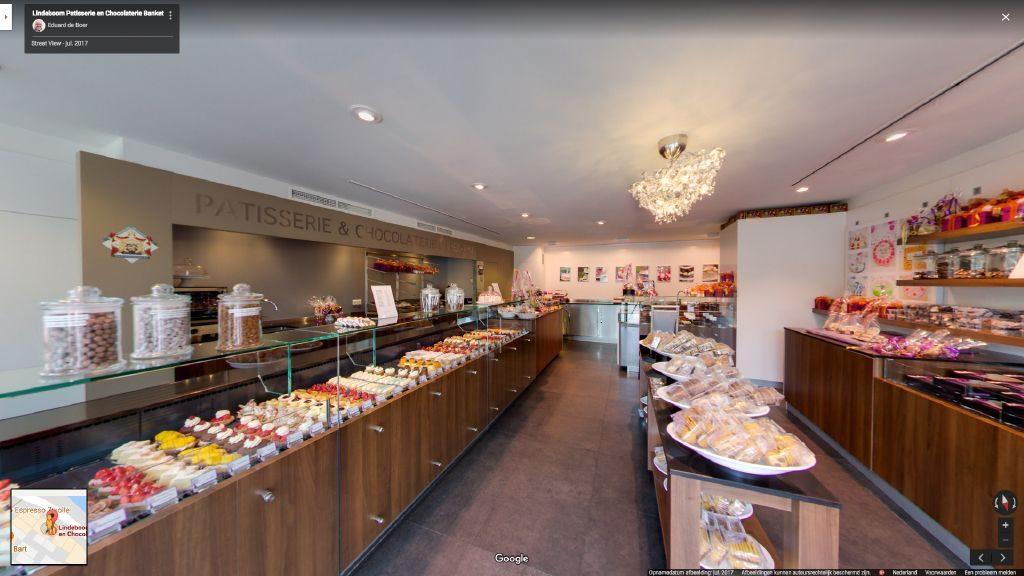 Virtuele tour van Lindeboom Patisserie en Chocolaterie Banket op Google Streetview