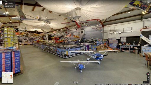 Virtuele tour van RC Wings op Google Streetview
