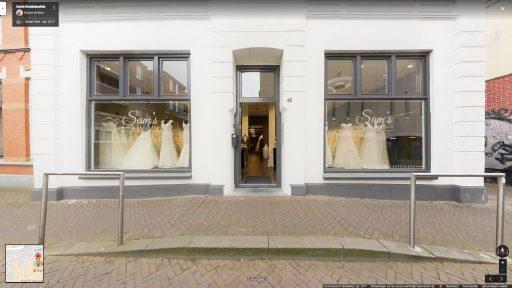 Virtuele tour van Sam's Bruidsboetiek op Google Streetview