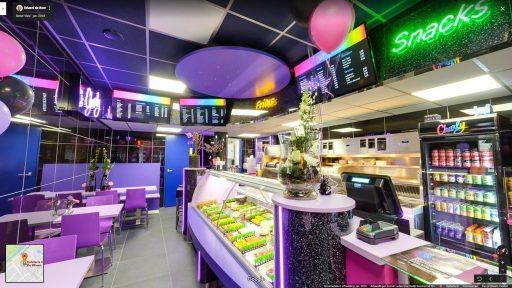 Virtuele tour van Cafetaria Charly de Mheen op Google Streetview