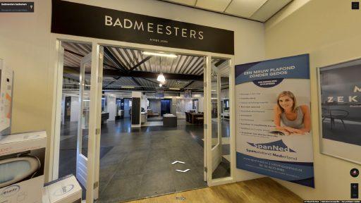Virtuele tour van Badmeesters badkamers op Google Streetview