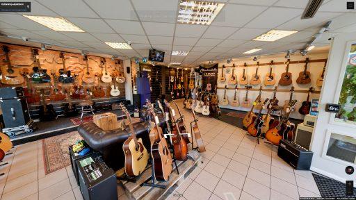 Virtuele tour van Guitarshop-Apeldoorn op Google Streetview