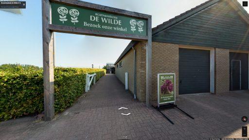 Virtuele tour van Rozenkwekerij De Wilde op Google Streetview