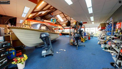 Virtuele tour van Woltman Watersport op Google Streetview