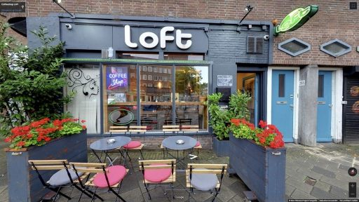 Virtuele tour van Coffeeshop LoFt op Google Streetview