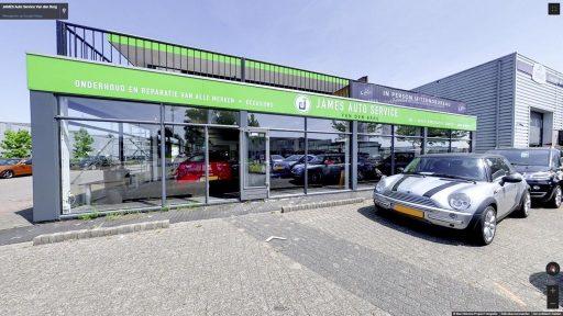 Virtuele tour van JAMES Auto Service Van den Berg op Google Streetview