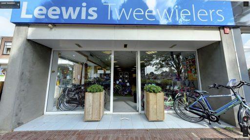 Virtuele tour van Leewis Tweewielers op Google Streetview